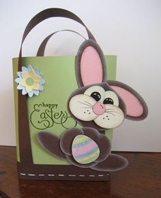 Her baskets are so cute. All products from Stampin Up.  Easter Punch Art Stampin' Up!
