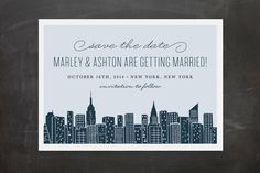 Idea for an engagement party card: Big City New York Save the Date Postcards by Hooray Creative at minted.com