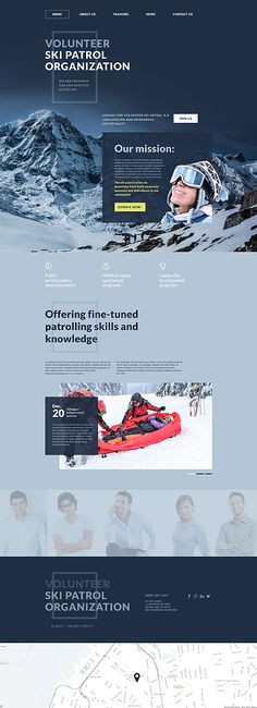 Template 55686 - Skiing Boarding  Responsive Website Template