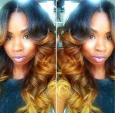 Ombre hair #hair #black #ombre