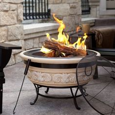 Imperial Home Angel Wing Stone Wood Burning Fire Pit f61757ed3384a