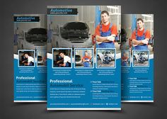 Auto Repair Business Flyer by AfzaalGraphics on @creativemarket