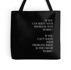 Why Worry - Typography Totebags