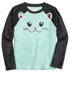 Cat Fleece Pajama Top