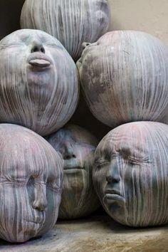 Sculpture by Samuel Salcedo Public art? Land Art, Living Puppets, Street Art, Instalation Art, Sculptures Céramiques, Rock Sculpture, Fantasy Kunst, Wow Art, Arte Popular