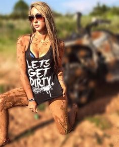 Hot Country Girls, Country Women, Atv Riding, Redneck Girl, Black Neon, Color Black, Colour, Lady, Cool Shirts