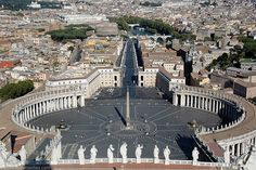 Piazza San Pietro seen from St. Peter's Basilica, Rome - Most Popular Pictures