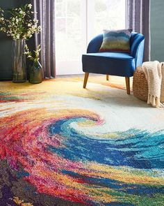 𝓔𝓵𝓮𝓰𝓪𝓷𝓬𝓮 (@elegancerugs) Instagram | Spiralling waves of radiant colour dazzle the eye in this exciting Celestial Collection area rug by Nourison. The design hints at galaxies forming, and brings the beauty of the cosmos into the room in an artful impression of infinite mystery. | Blue Navy Multicoloured Burnt Orange Rust | Rectangle | Modern | Polypropylene | Machine Made Rug | Elegance Rugs Cosmic Consciousness, Machine Made Rugs, Saturated Color, Burnt Orange, Infinite, Cosmos, Uni, Galaxies, Mystery