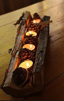 Autumn Light In The Woods Halloween Fall Decor Fall Candles Autumn Crafts, Christmas Crafts, Christmas Decorations, Candle Decorations, Autumn Decorations, Thanksgiving Decorations, Xmas, Autumn Diys, Outdoor Christmas