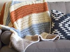 mantas tejidas al crochet para sillones rapidas