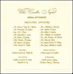 Wedding Invitation Sponsors