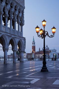 The Doge's Palace Just before dawn, Venice, Veneto, Italy. © Brian Jannsen Photography