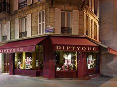 DIPTYQUE ROSE DUET SAINT GERMAIN window displays