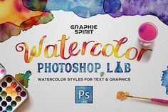Watercolor Photoshop Lab by Graphic Spirit on @creativemarket