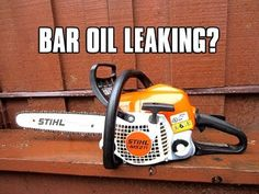 In this video I show you how to easily fix a Stihl chainsaw that leaks bar oil excessively. Oil line is Stihl part 647 4000 Don't forget to click.