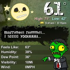 Best weather app ever. Weather Zombie!!