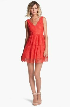 BCBGMAXAZRIA Lace Fit & Flare Dress available at #Nordstrom