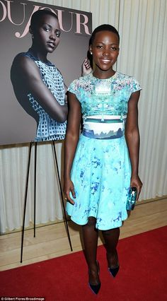 Cover girl: Lupita Nyong'o attended the pre-Golden Globes party for DuJour magazine's Great Performances issue