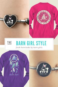 Are You A Horse Lover? If So, You'll Love These Barn Girl Designer Clothing & Accessories. Get Yours Today Now! Baby Horses, Cute Horses, Beautiful Horses, Cowgirl And Horse, Horse Riding, Cowgirl Boots, Gifts For Girls, Girl Gifts, Clydesdale Horses