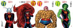 Variant covers by Mike Allred for FF #2-#5.
