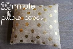 Trey and Lucy: 10 Minute pillow cover