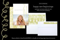 New Beginnings photo New Year card for 2017 by Carol Fazio for minted.com.