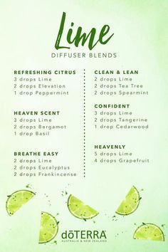 doTERRA Lime Essential Oil Diffuser Blends - Essential Oil Diffuser - Ideas of . - doTERRA Lime Essential Oil Diffuser Blends – Essential Oil Diffuser – Ideas of Essential Oil Di - Essential Oil Diffuser Blends, Doterra Essential Oils, Doterra Blends, Diy Diffuser Oil, Key Lime Essential Oil, Cooking With Essential Oils, Basil Essential Oil, Bergamot Essential Oil, Aromatherapy