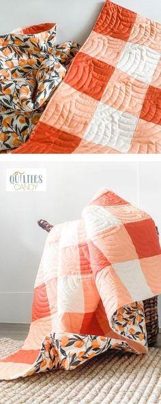 Strip piece quilt pattern, gingham quilt pattern, modern quilt pattern, quilters candy