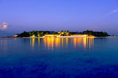 Beauty has unveiled! Dusit Thani Maldives right after the Sunset....