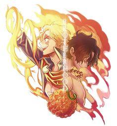 One Piece, ASL, Sabo, Ace