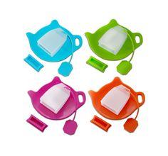 TEA INFUSIAST Silicone Reusable Tea Bag Silicone Tea Infuser Strainer Bag Hol... #TeaInfusiast