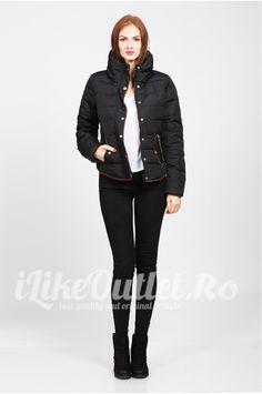 Black short winter jacket-VERO MODA
