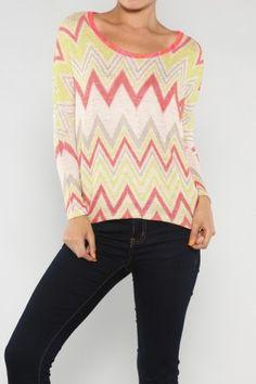 Missoni Knit Top #missoniprint #salediemlovesfashion #fashion SaleDiem.com sells boutique fashions each day.  Shipping is FREE!!