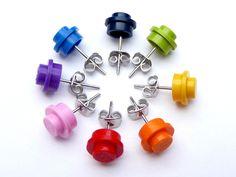 Ear Studs – LEGO® earstuds - Upcycling LEGO Jewelry - Children – a unique product by arohanui on DaWanda