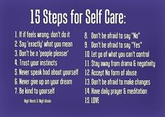 15 Steps for Self Care