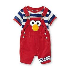 Sesame Street- -Infant Boy's T-Shirt & Overalls - Elmo