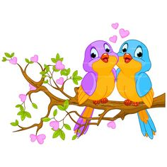 cute love birds cartoon clip art images all bird images are free for rh pinterest com love birds clip art free love birds clipart wedding