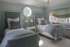 Twin Beds in the Guest Bedroom by W Design