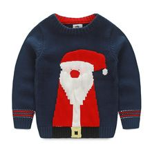LittleSpring Children's Clothing Christmas Gift Thanksgiving Clothes Long Sleeve Santa Clothes Sweater Boy Winter Knit Pullover(China (Mainland))