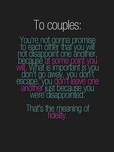 Vows....
