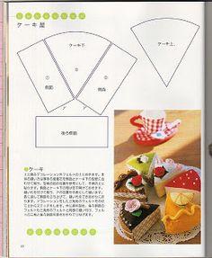 Cake template for felt cake play food