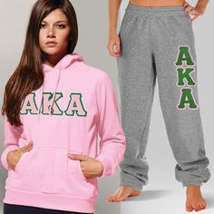Alpha Kappa Alpha Sorority Hoody and Sweatpant Package #Greek #Sorority #AKA #AlphaKappaAlpha #Clothing