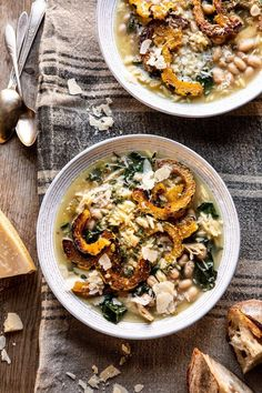 Crockpot Parmesan White Bean Chicken Soup with Roasted Delicata Squash | halfbakedharvest.com #crockpot #slowcooker #instantpot #chickensoup Slow Cooker Recipes, Crockpot Recipes, Chicken Recipes, Soup Recipes, White Bean Soup, White Beans, Instant Pot, Delicata Squash Recipe