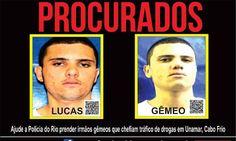 CIDADE: Polícia busca por gêmeos suspeitos de tráfico