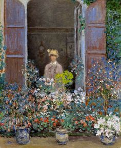 "Claude Monet (1840-1926) "" Camille Monet at the Window, Argenteuil."""