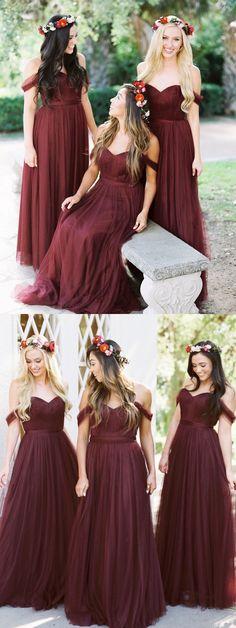 d4e04a0501c6b7 Burgundy bridesmaid dresses