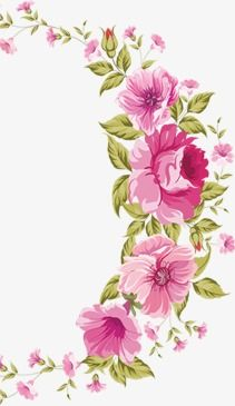 Watercolor wreath, Watercolor Flower, Wreath, Hand-painted Flowers PNG Image