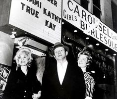Jack Ruby in front of his Carousel burlesque nightclub, a frequent haunt of police, mobsters, local businessmen and others. Before arriving in Dallas, he was connected to Santo Trafficante Jr. and amongst other activities, ran guns into Cuba for the Mob to help defend against Castro's revolutionaries. www.lberger.ca
