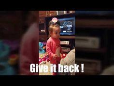 Funny / angry baby girl ! - YouTube