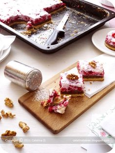 Catalina Bakes: Red Currant Walnut Sheet Cake
